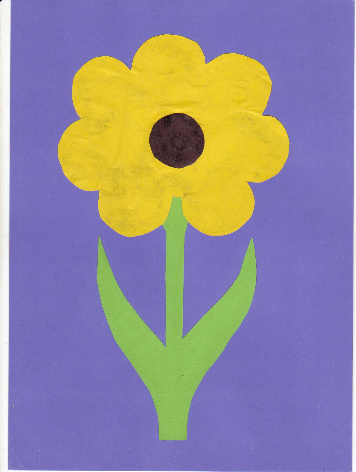 Игрушки, картинки аппликация цветы из цветной бумаги
