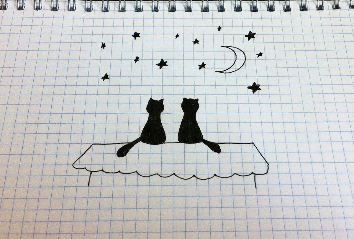 Смешные, простые рисунки карандашом прикольные маленькие