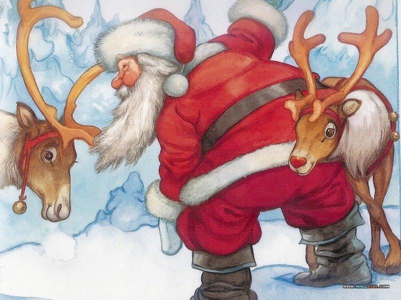дед мороз и его олени картинки потому, что