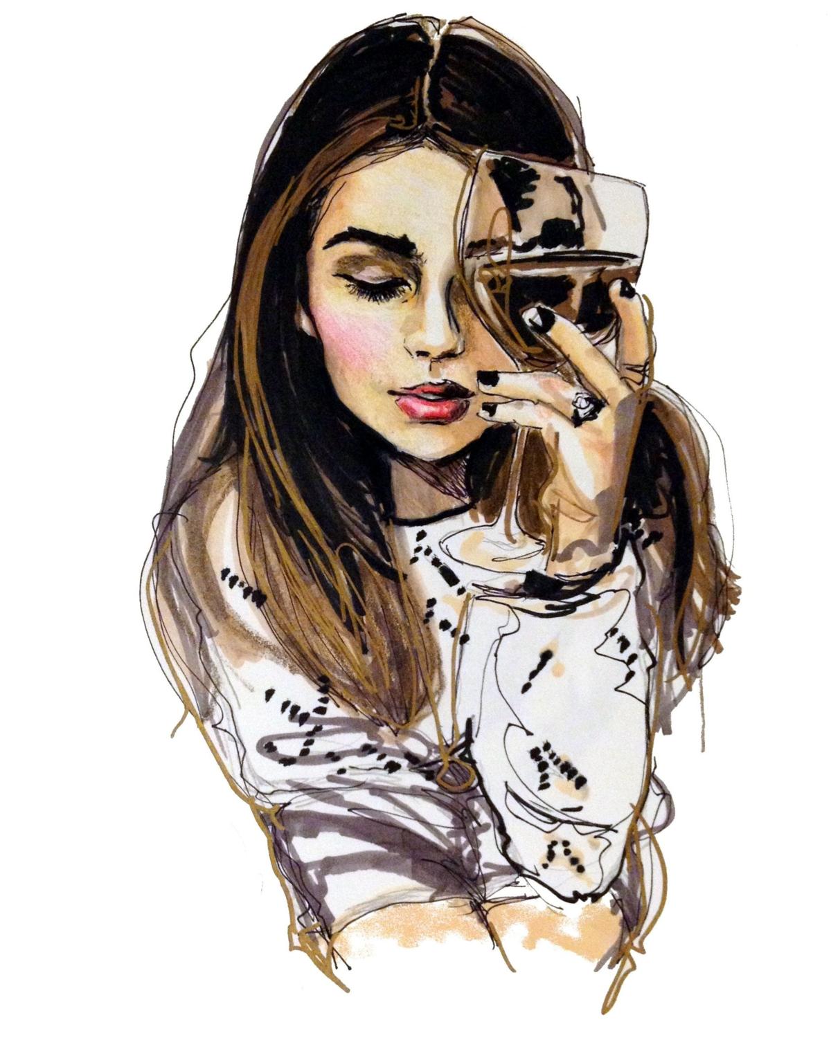 Картинки красивые с девушками нарисованные, картинки про