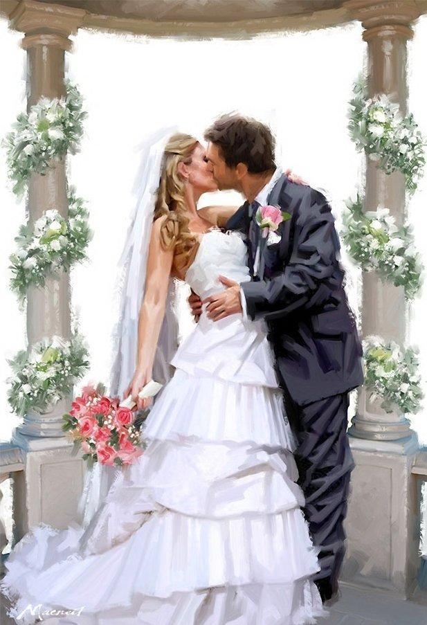 Свадебные картинки жених и невеста винтаж, для