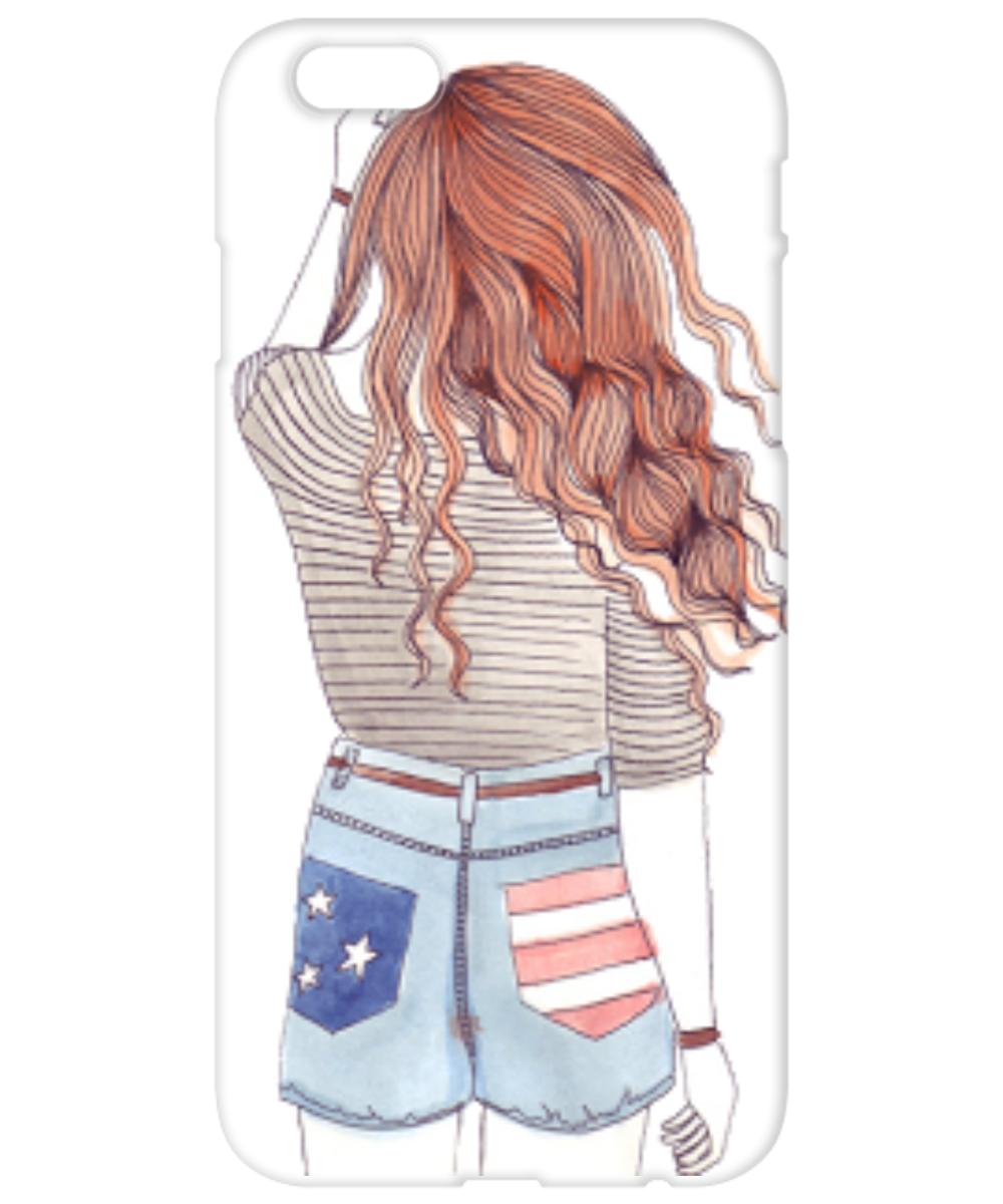Прикольные и легкие рисунки для срисовки девочки со спины, прикольные картинки поздравлением