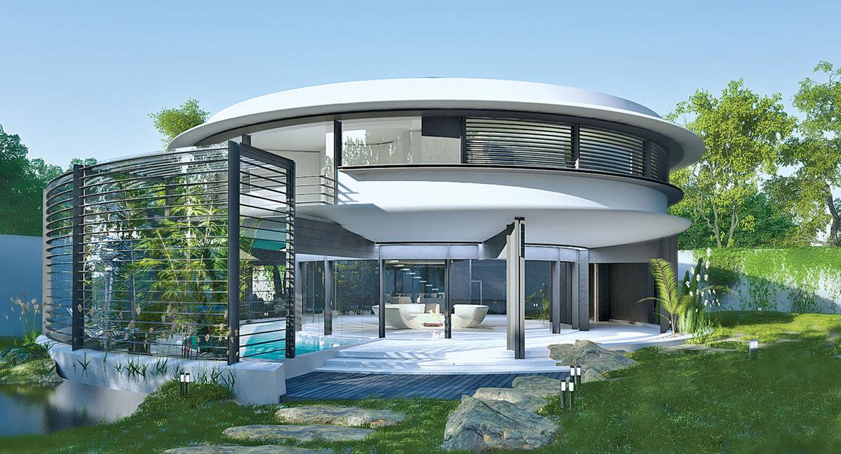 Картинка дома будущего