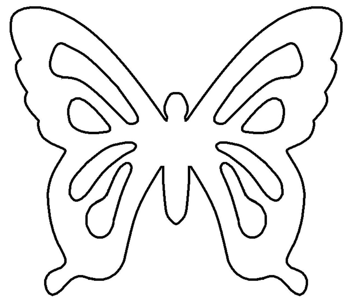 Бабочки для открыток шаблоны