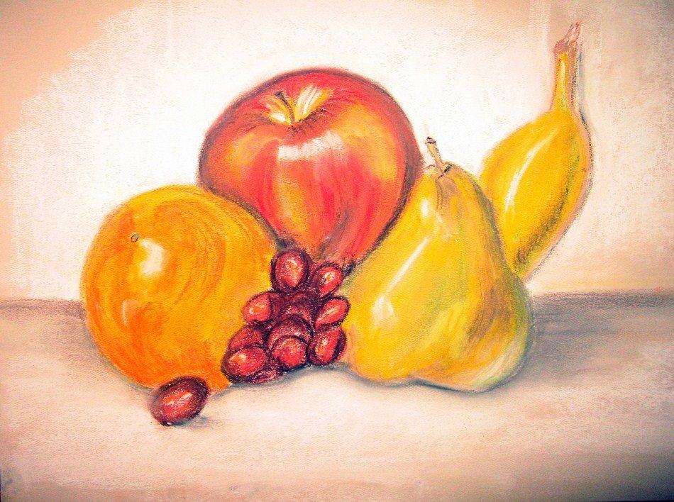 общем, картинки для рисования натюрморта из фруктов жизнь