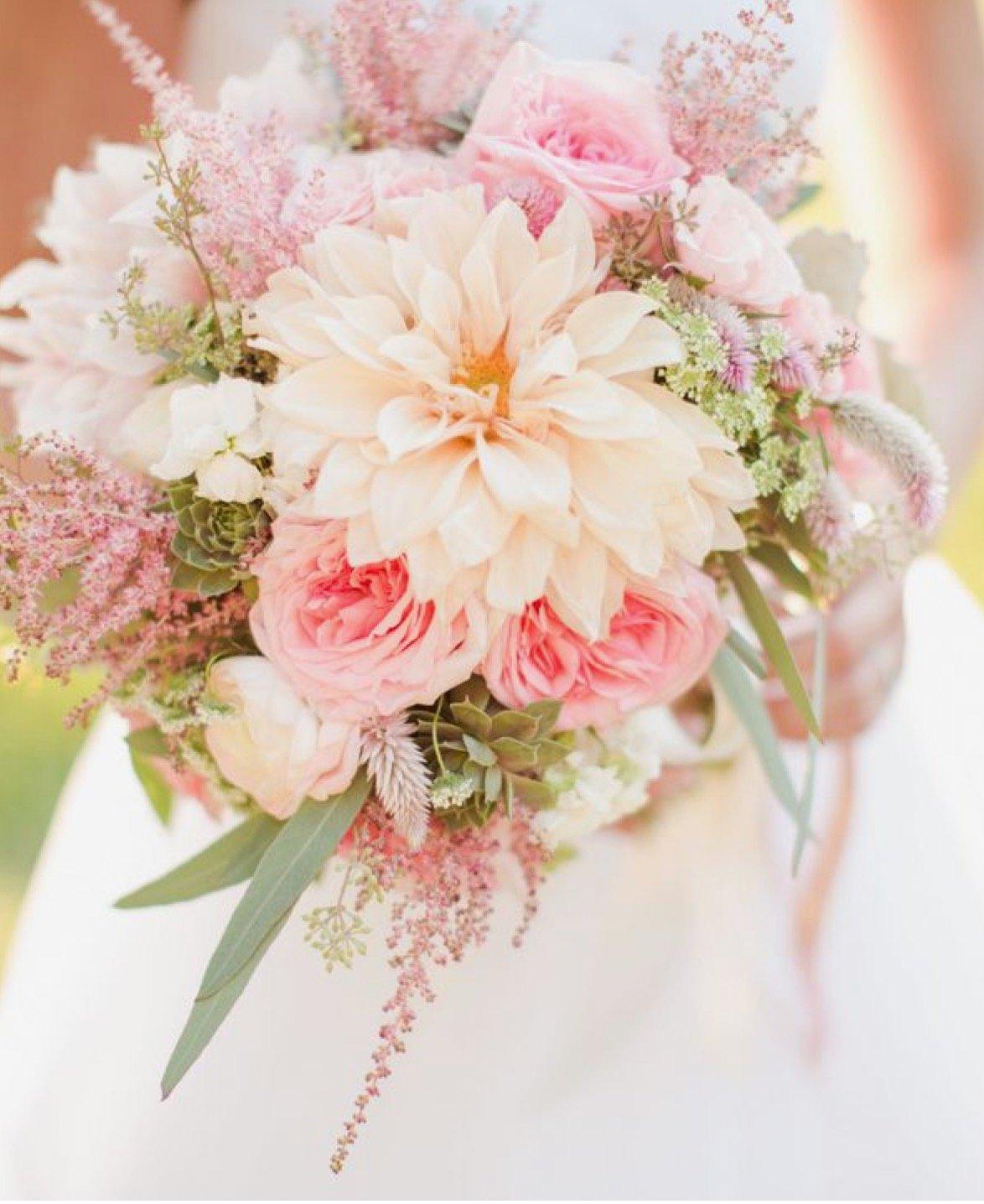 Букет невесты розового цвета