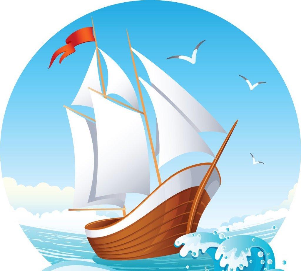 Картинки чтобы, картинка кораблика с парусами для детей