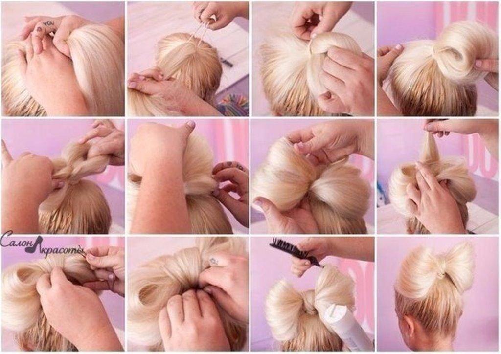 Бантики из волос в картинках