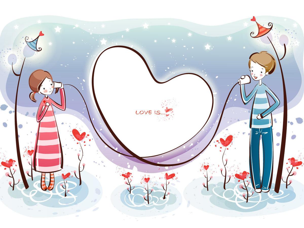 Открытки на любовные темы