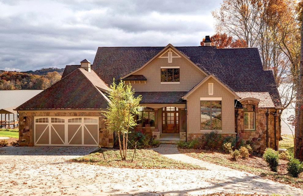 Деревенские дома с гаражом фото