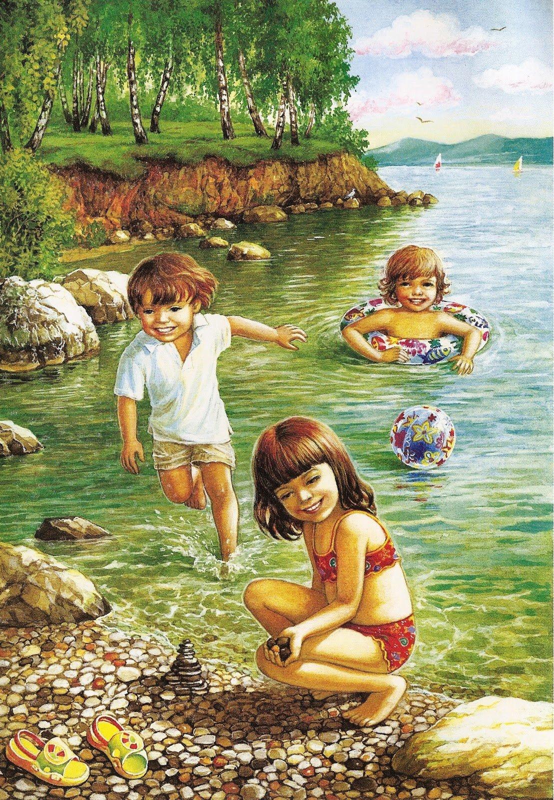 Картинки лето рисунки, сделать красивую простую