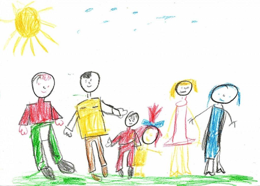 Рисунок своей семьи картинки супруге день