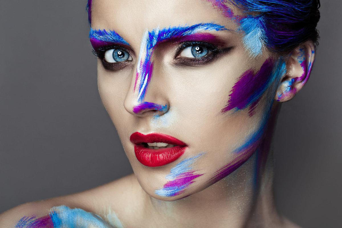 Картинки креативный макияж женщины все