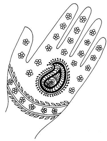 Рисунки для рисования хной на руках для начинающих