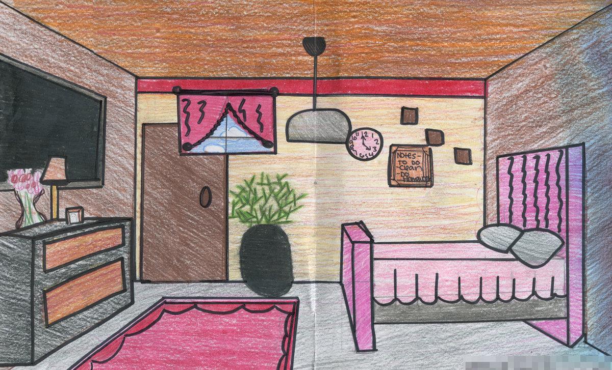 картинки как нарисовать квартиру центре композиции пятиметровый
