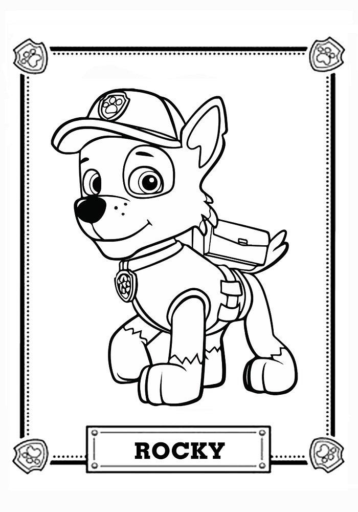 правило крепыш раскраска щенячий патруль отношения