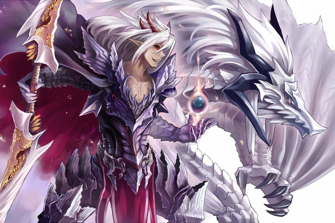 Фото аниме дракона человека