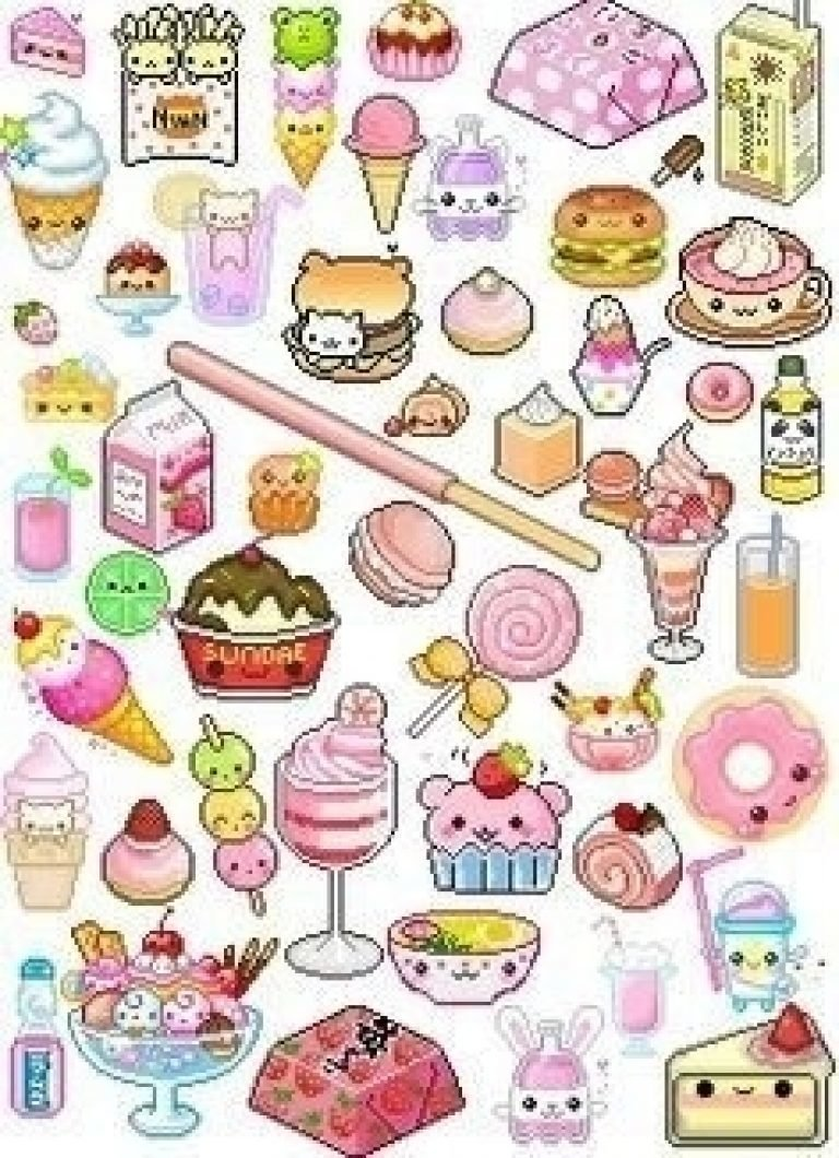"cute food printable stickers journalingsage intended for cut"" — card"
