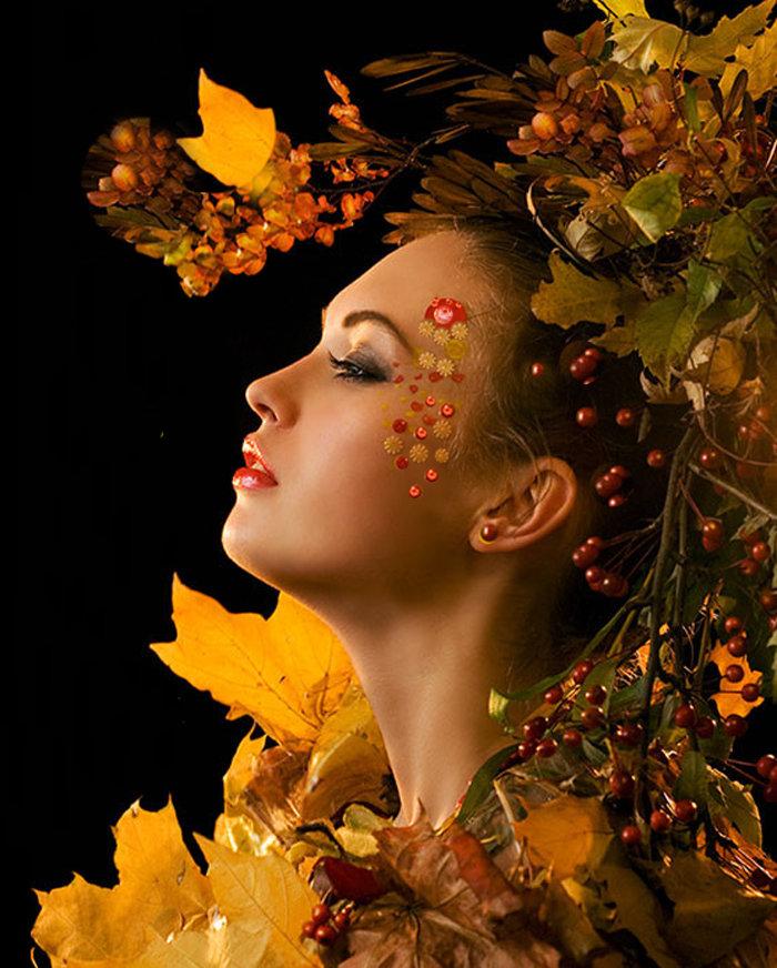 Картинки на тему женщина и осень
