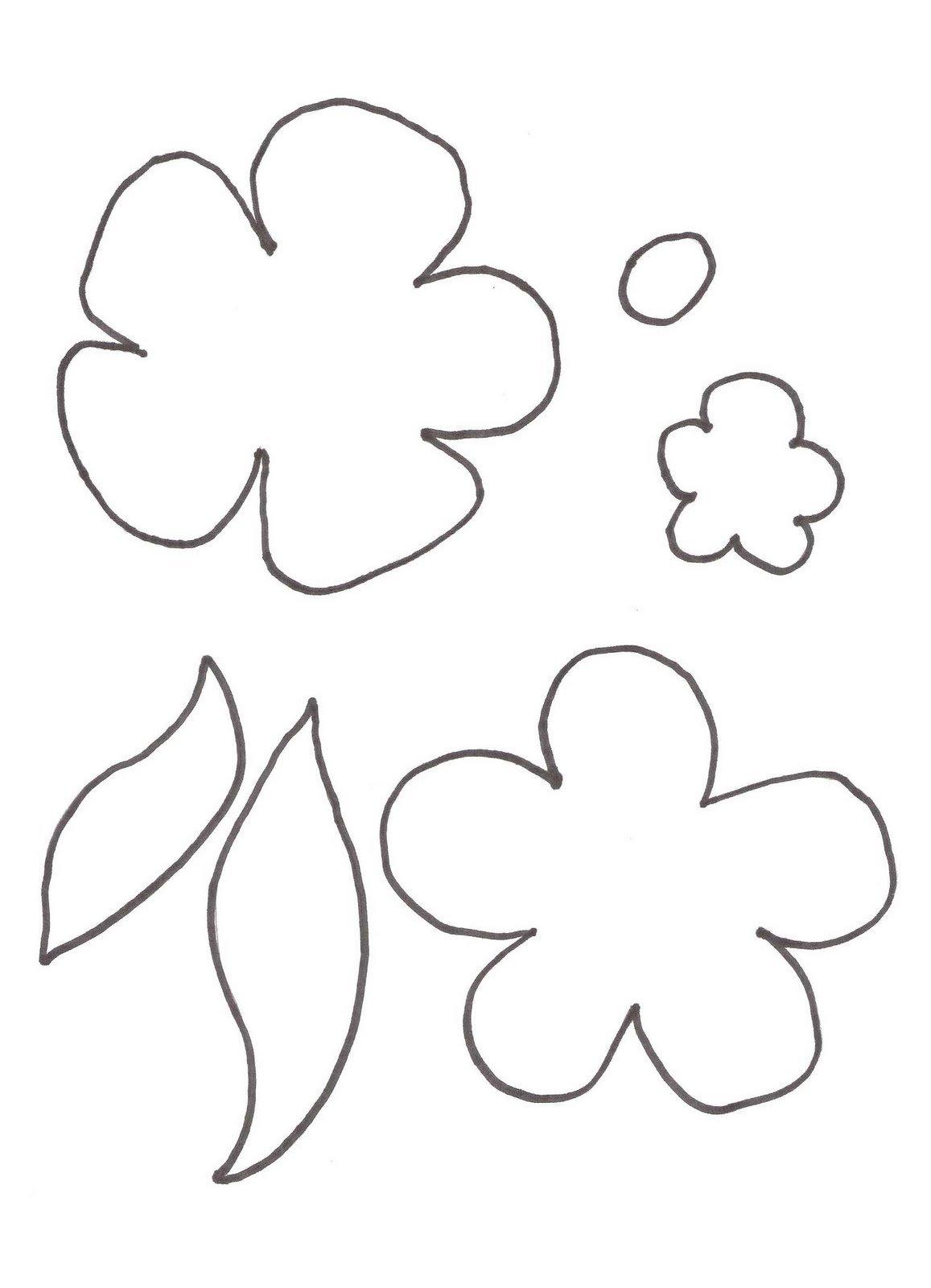 Открытки, шаблоны цветочек 5 листочков