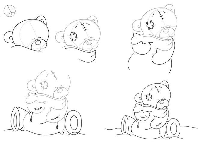 Как нарисовать мишку картинку, такова