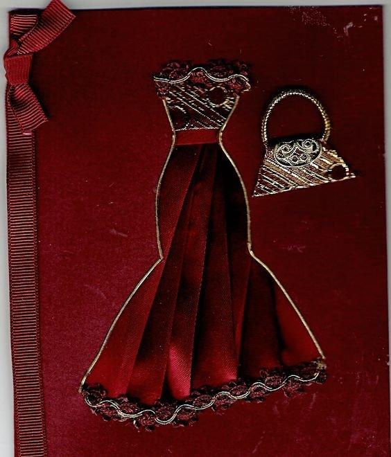 Мая ворде, как сделать платье из ленты на открытке