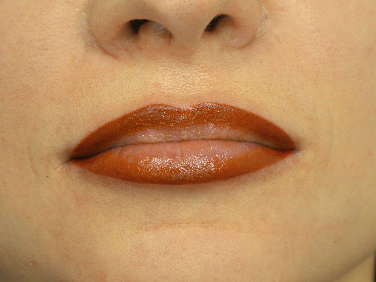 Татуаж губ хной фото отзывы