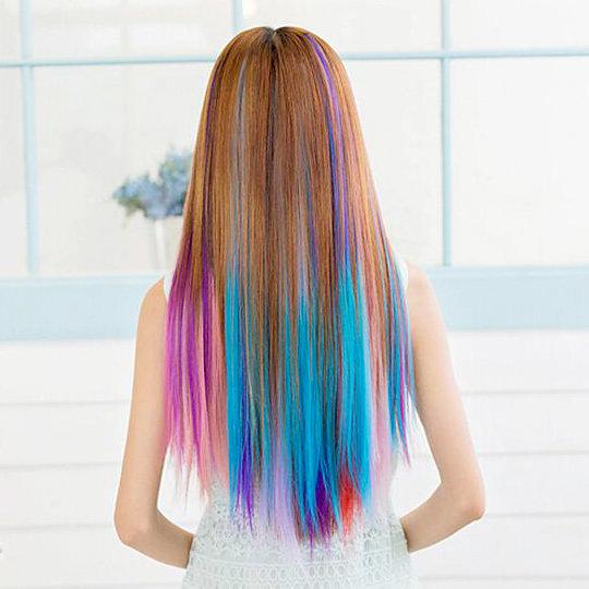 это цветные пряди волос фото на русые волосы что там