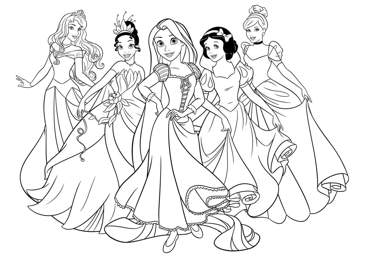 Картинки принцесс диснея распечатать