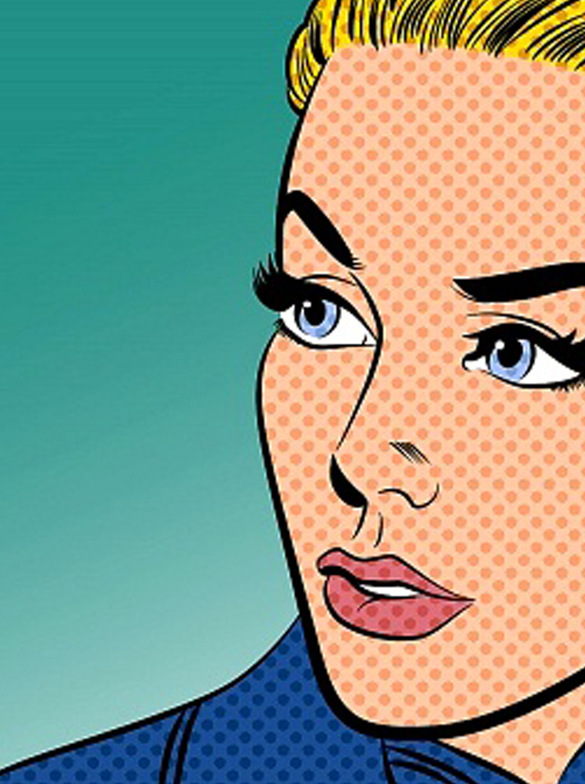 Девушка комикс картинка