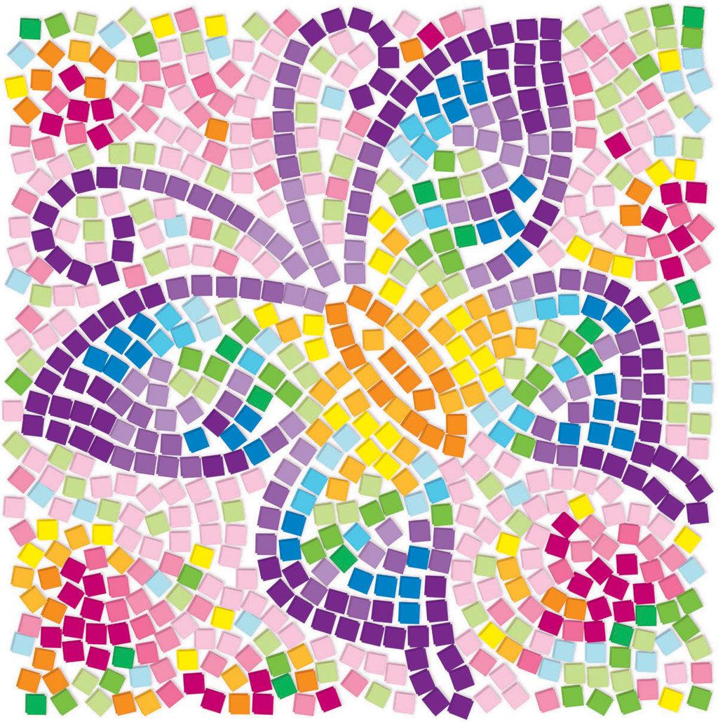 Картинка с мозаикой, нарисованные веселые