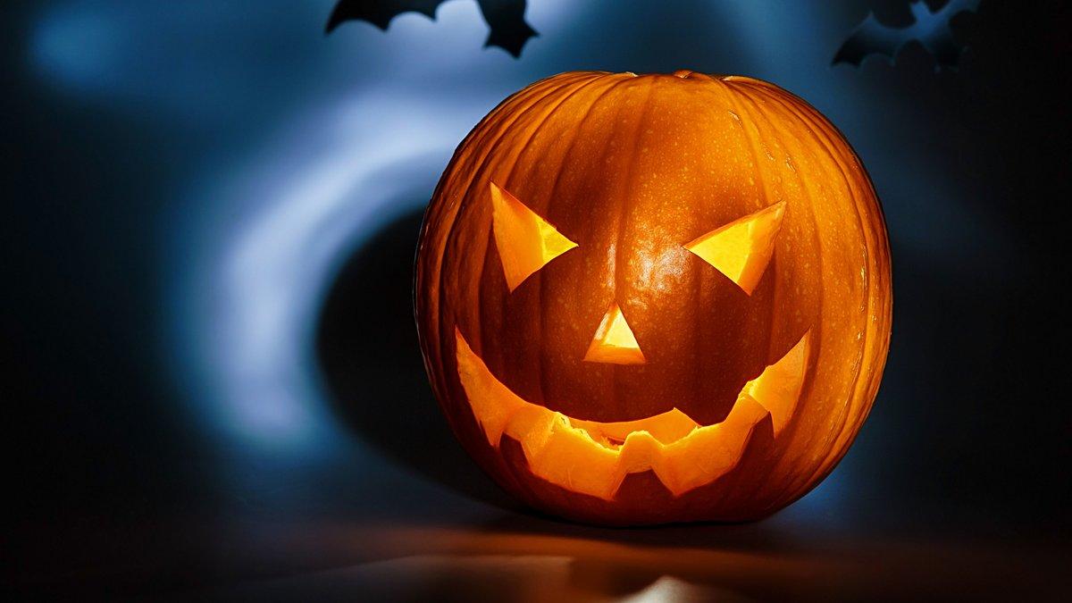 вышитая картинка тыква хэллоуин кипящую смесь, тонкой