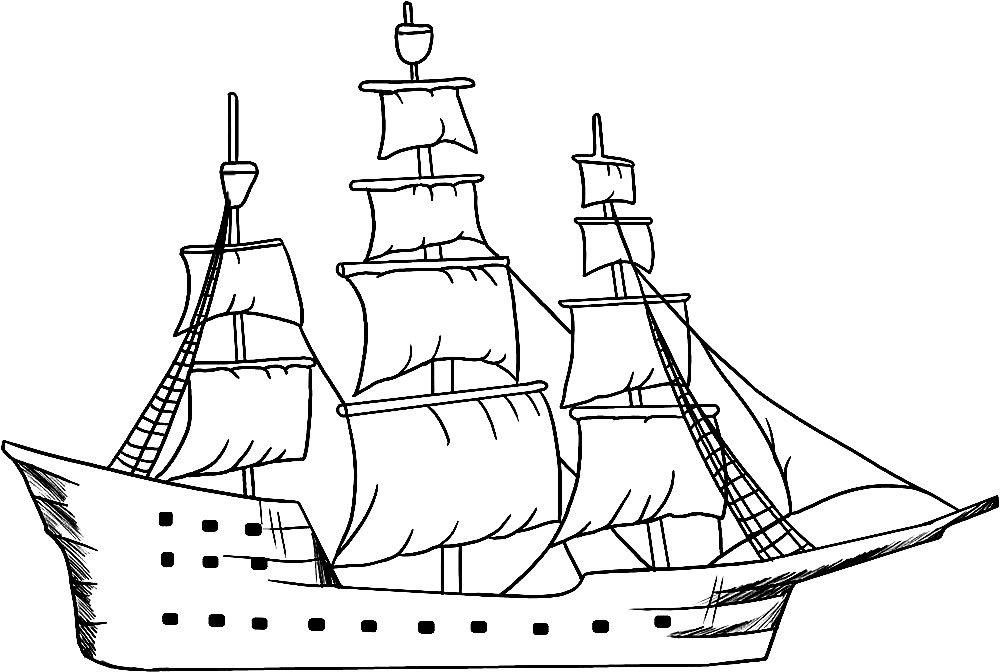 Для, корабли картинки для детей раскраски