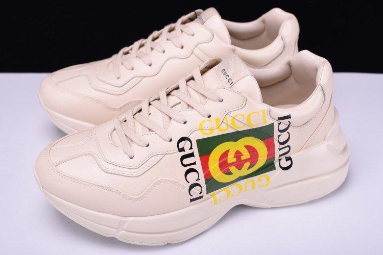 908ae744368a Кроссовки Rhyton Gucci logo leather sneaker. -   Официальный сайт 🚩 http