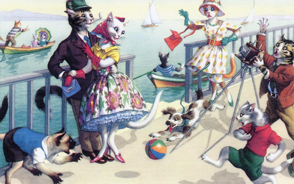 Роза надписями, открытки кошки люди