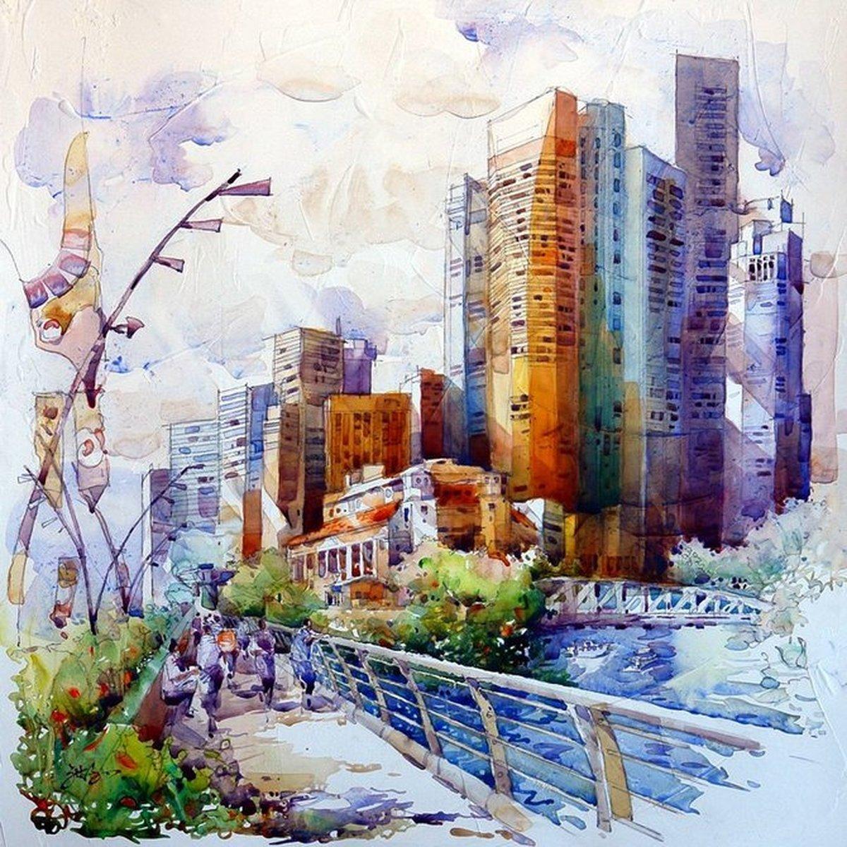 англичанин интересен акварель города картинки этом проекте взял