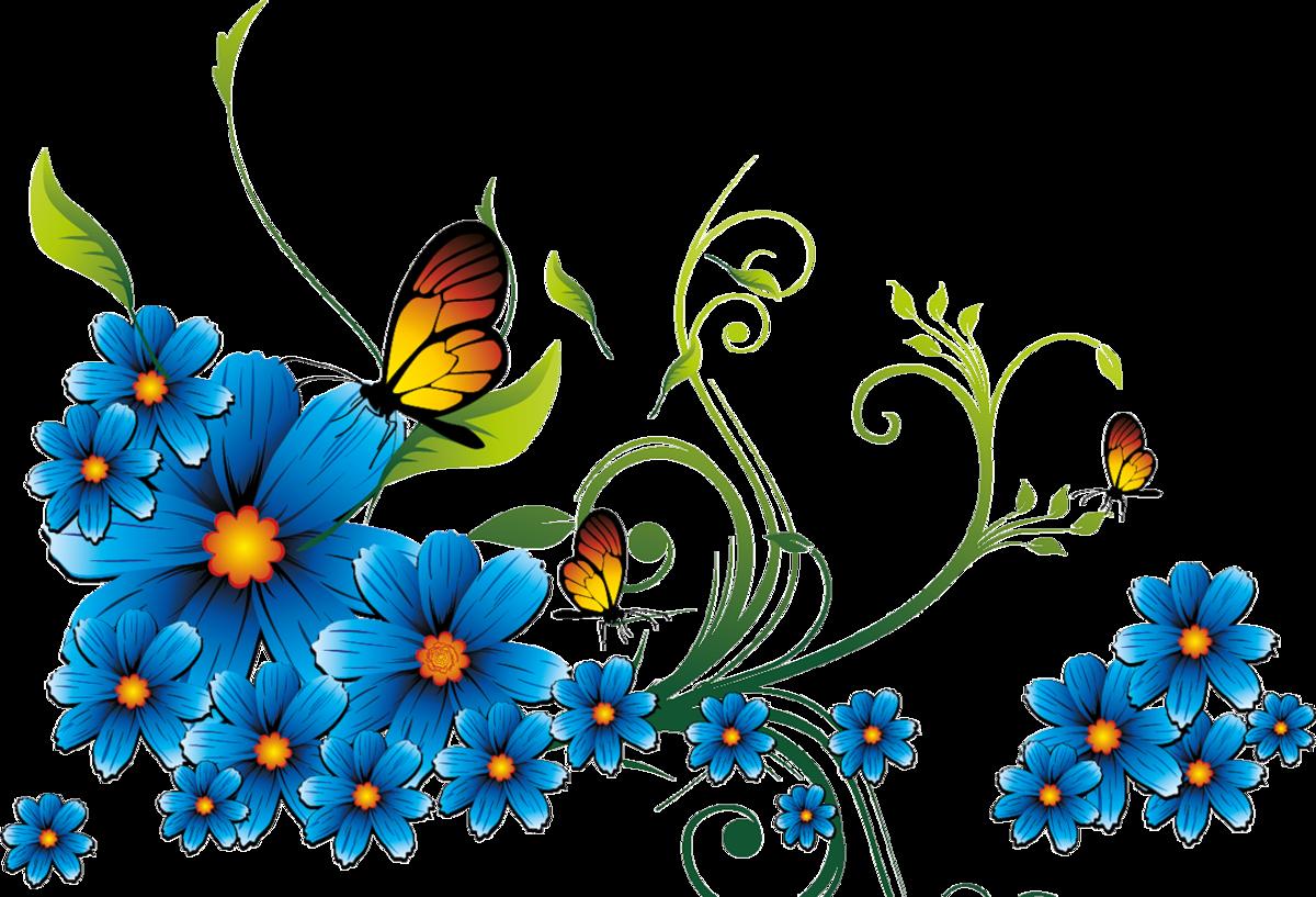 Векторные картинки цветы и бабочки, для