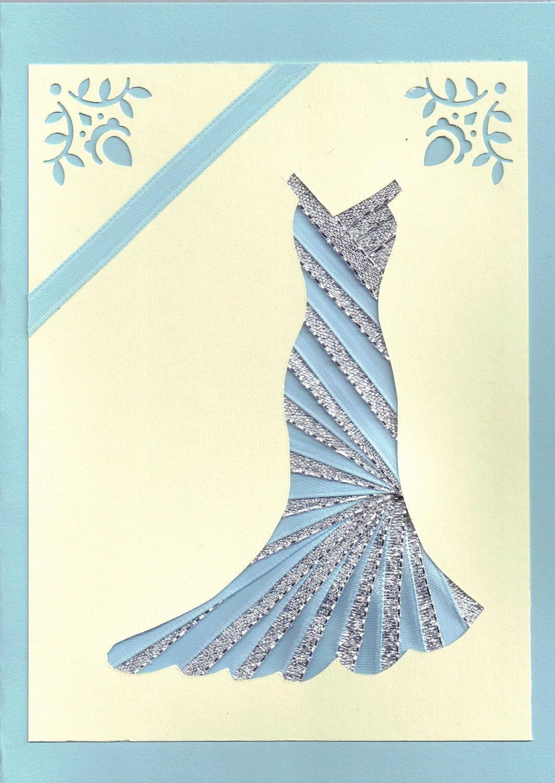 Тестов беременность, как сделать платье из ленты на открытке