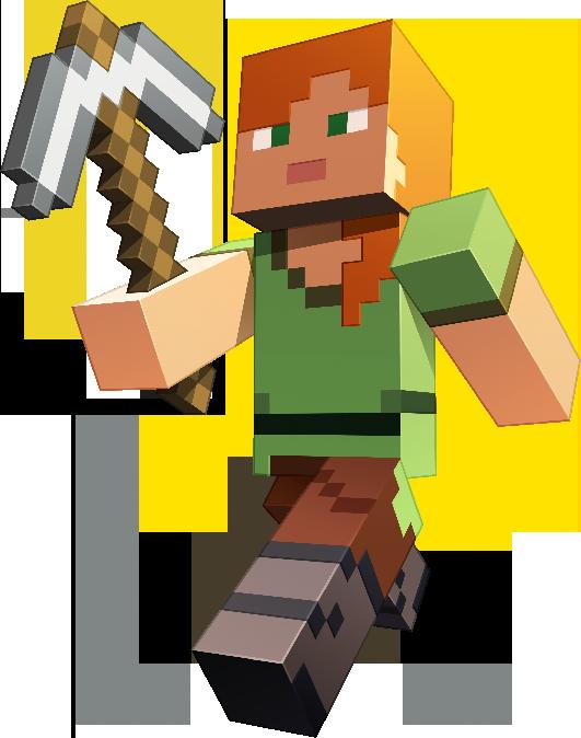 Картинки персонажей из игры майнкрафт
