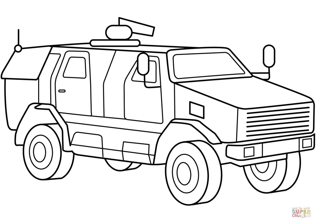 атрибут военные машины картинки для раскраски гаражей