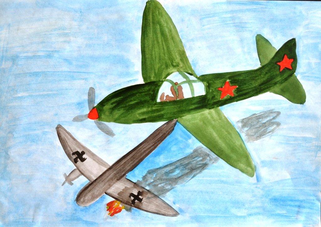 Рисунок, открытка на военную тематику для детей
