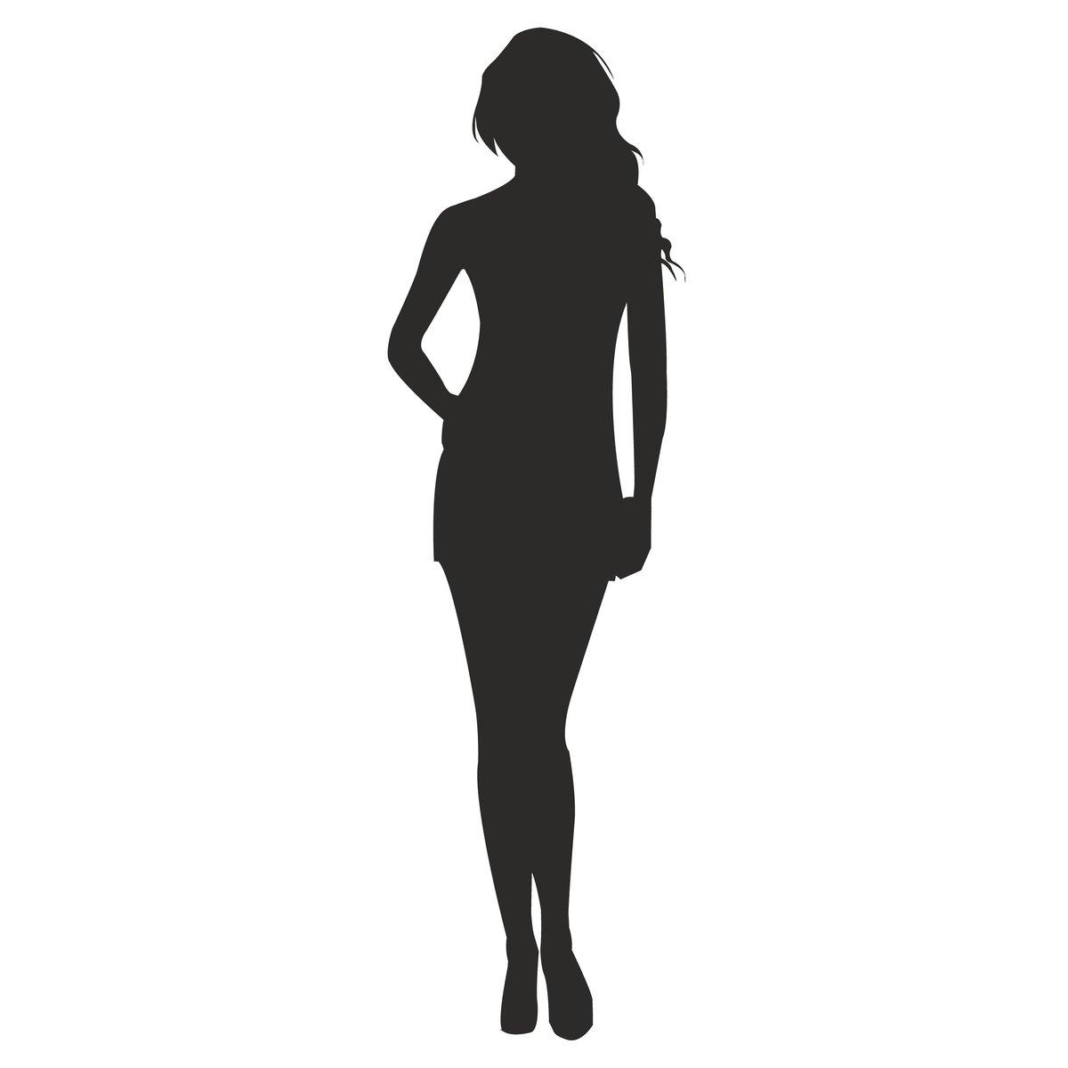 Картинки контур женской фигуры