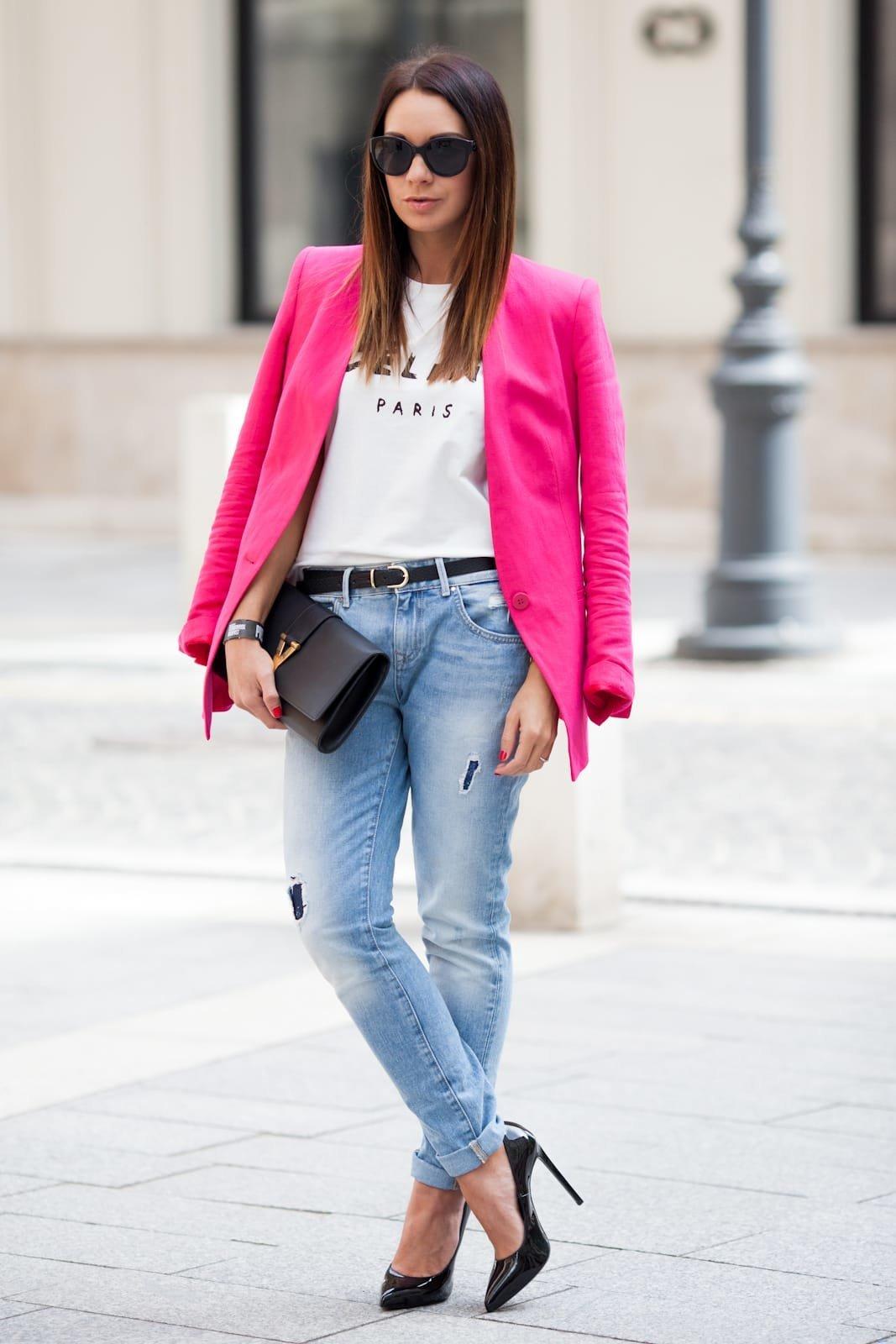 светло розовый пиджак с чем носить фото познал
