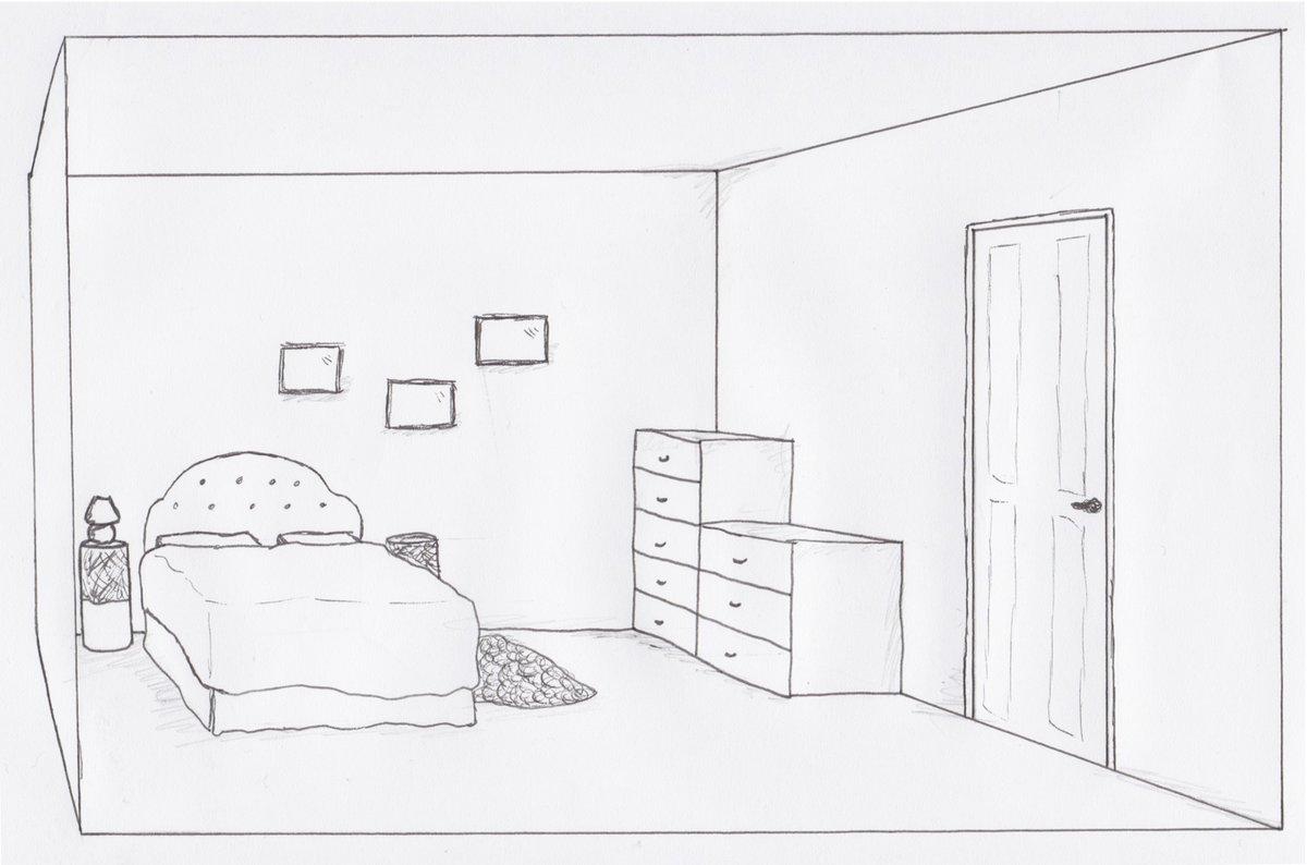Как нарисовать мебель в комнате. Как нарисовать интерьер ...  Простой Интерьер Рисунок