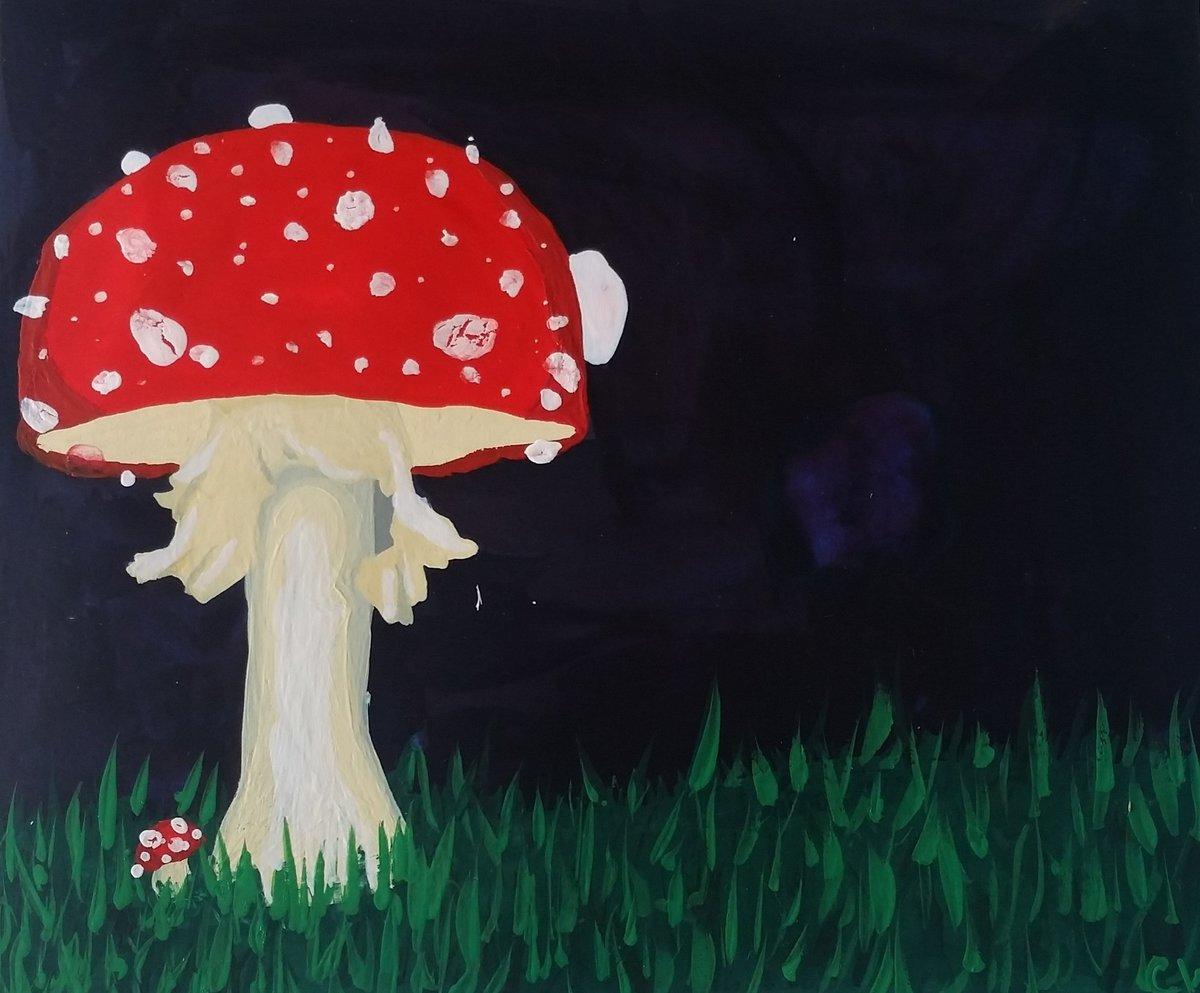 быстрого рисуем грибы картинки команда