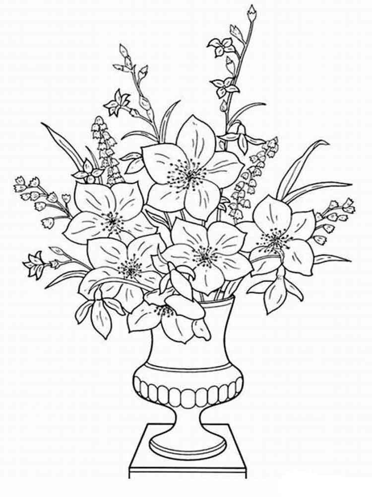 Картинка сверху, открытка ваза с цветами для детей