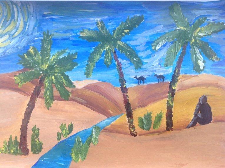 Картинки для стиха три пальмы