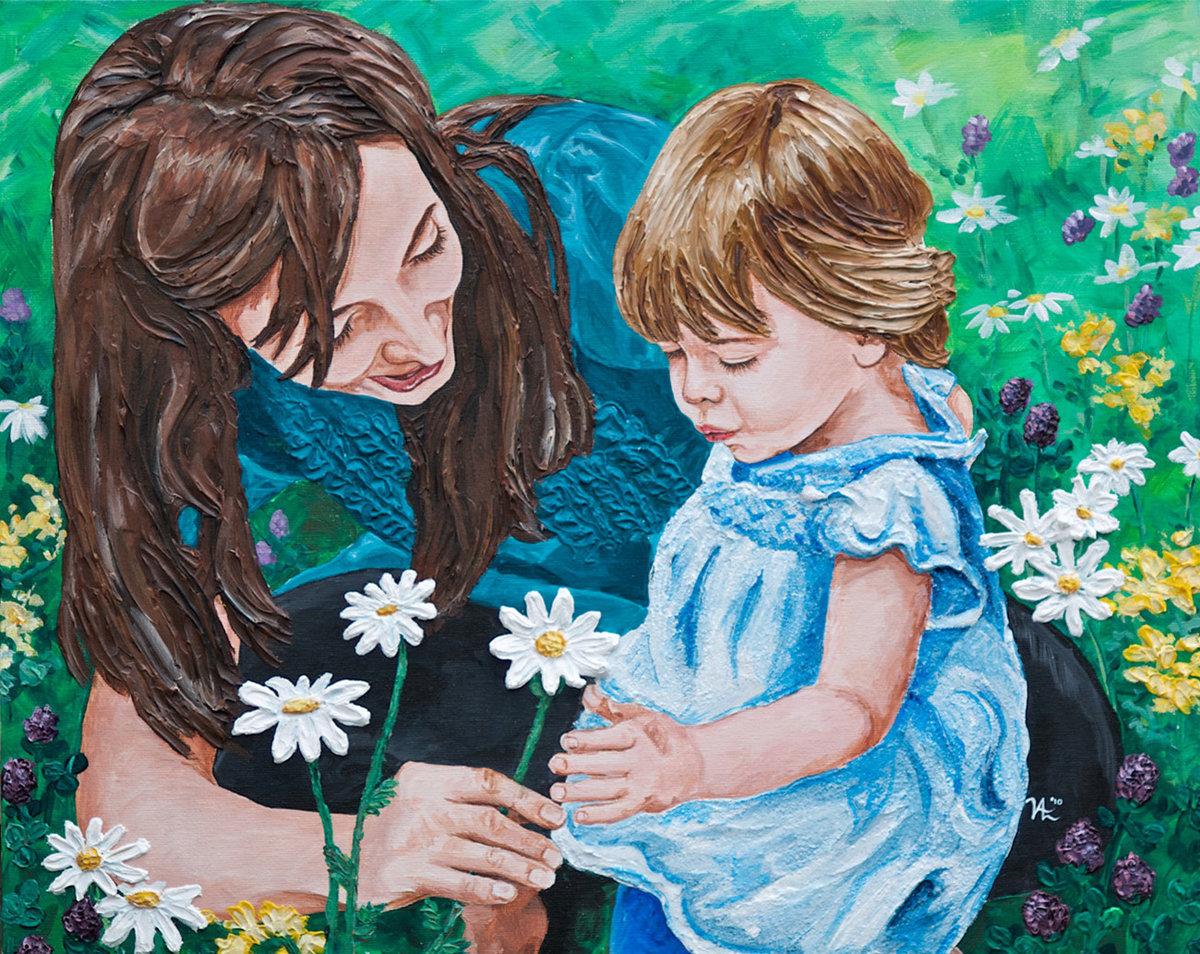 Рисунок с днем мамы красками, профсоюз образования