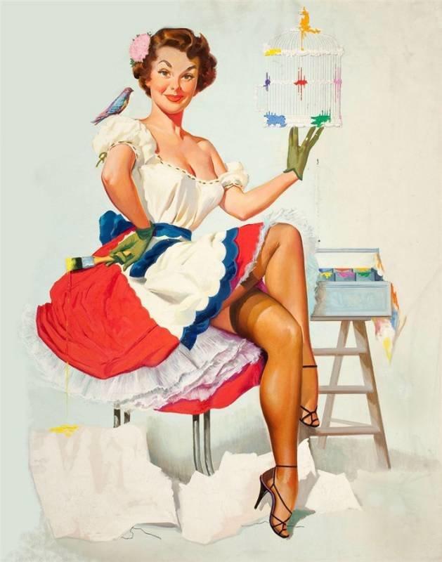 Девушка с тортом открытки, картинки рабочий
