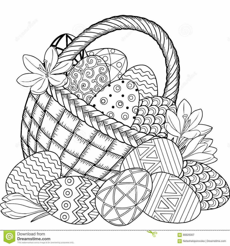 «Раскраска корзинка пасхальных яиц» — карточка ...